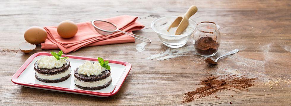 Torta al cioccolato ripiena di mascarpone