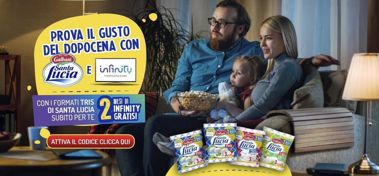 Prova il gusto del dopocena con Santa Lucia e Infinity