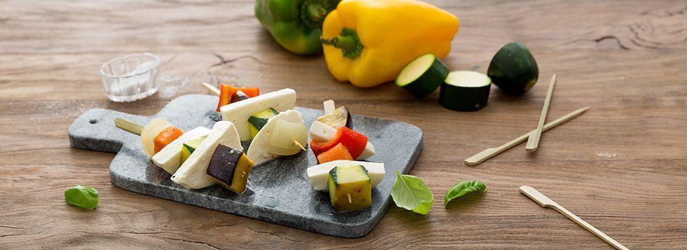 Spiedini vegetariani