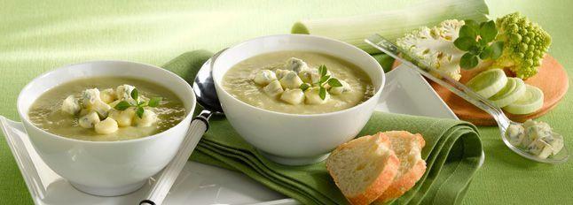 Zuppa di broccoli con dadini di Gorgonzola D.O.P Gim