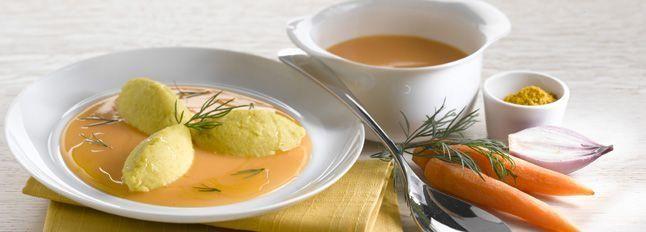 Crema di patate e carote con morbidelle di Certosa