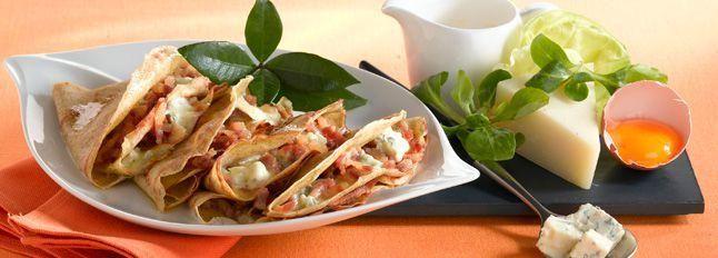 Crêpes di grano saraceno ripiene di Gorgonzola D.O.P Gim e pancetta