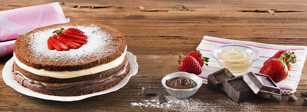Torta mascarpone e crema di nocciole