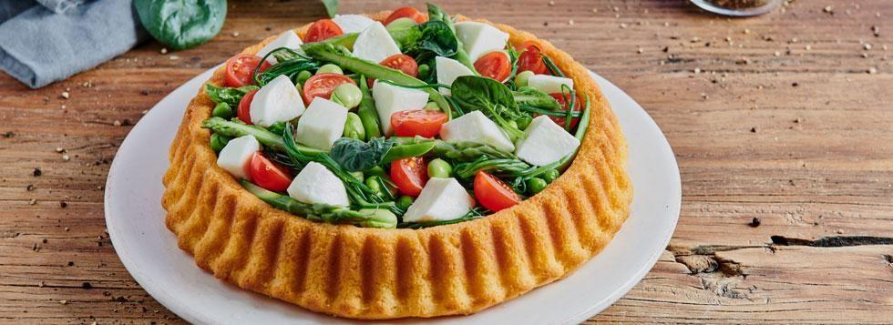 Crostata morbida con verdure primaverili