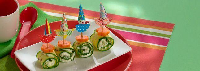 Spiedini di zucchine e crescenza