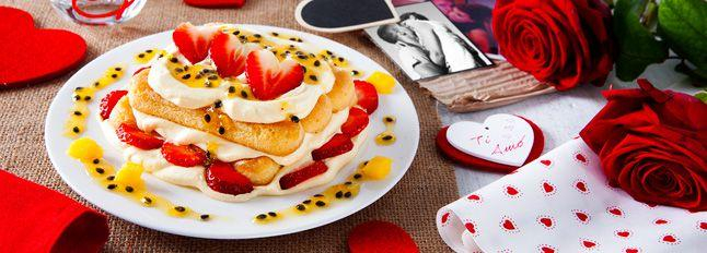 Tiramisù fragole e passion fruit