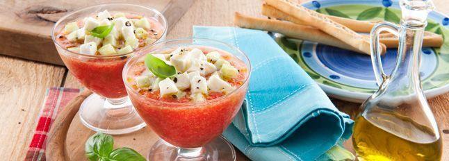Gazpacho di mozzarella e pomodoro