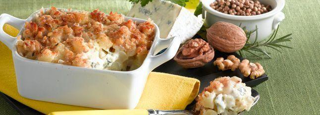 Gratin di patate croccante al Gorgonzola D.O.P Gim e noci