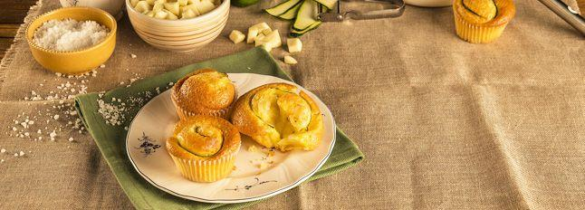 Muffin Galbanino, zucchine e menta