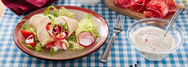 Piadine con verdure e Galbanetto