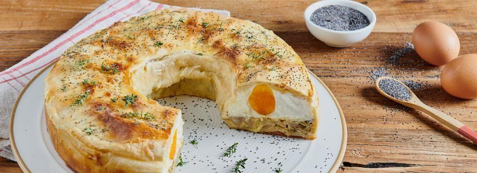 Torta Pasqualina con carciofi e maggiorana