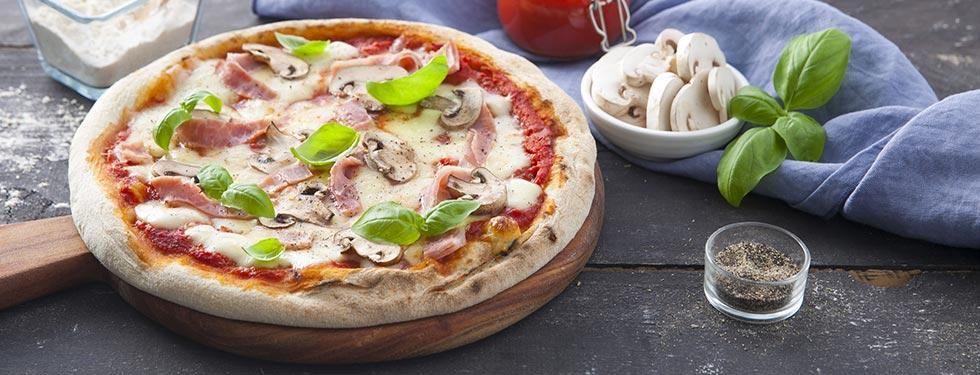 PIZZA PROSCIUTTO COTTO E FUNGHI BUONA DA STAR BENE