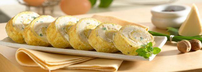 Rollè di uova e formaggino