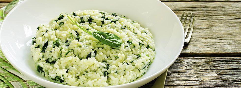 Risotto con spinaci e Galbanino
