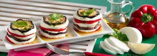 Sandwich di verdure e mozzarella