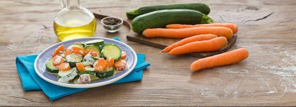 Zucchine e carote in padella