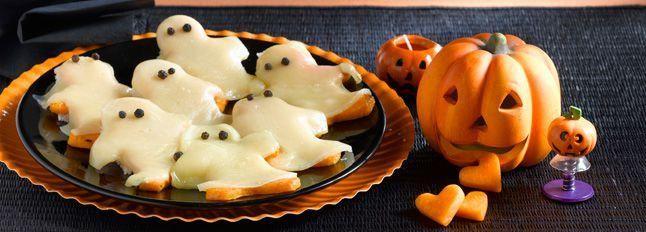 Fantasmini fritti di zucca gialla con Bel Paese