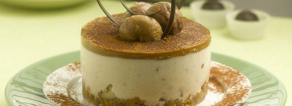 Cheesecake castagne e cioccolato