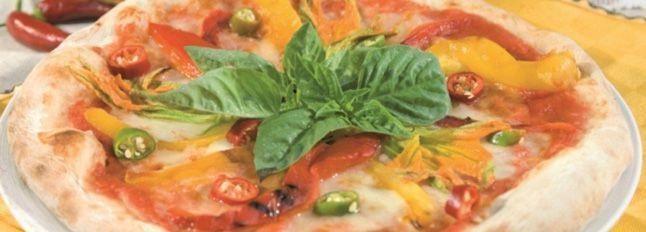 Pizza fiori e fiamme