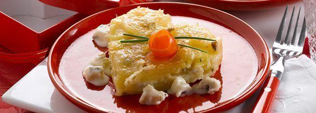 Millefoglie patate e gorgonzola