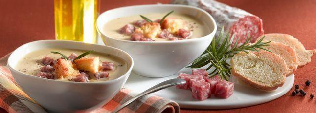 Zuppa di ceci con Galbanetto e crostini