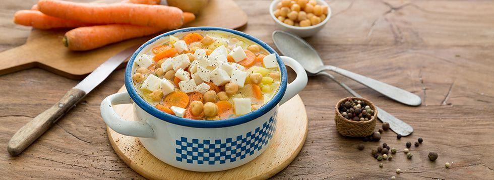 Zuppa di ceci e patate vegetariana