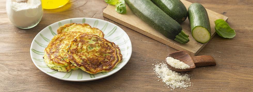 Pancakes salati con zucchine e ricotta