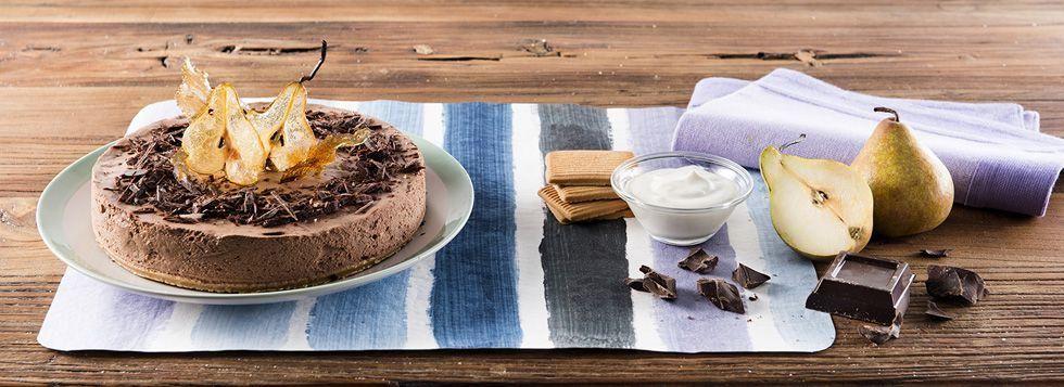 Cheesecake pere e cioccolato con Crema Dolce alla Ricotta