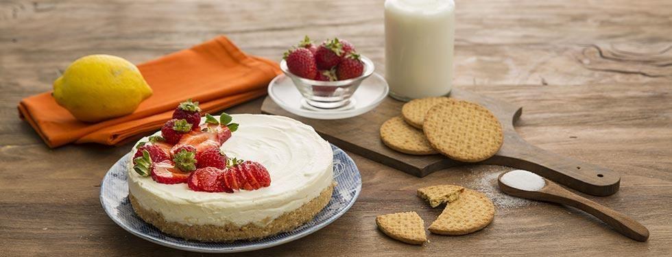 Cheesecake con lo yogurt greco e mascarpone