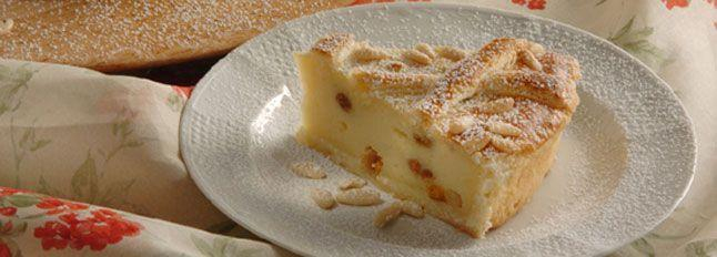 Crostata al formaggio e pinoli