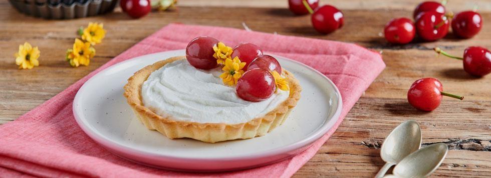 Crostatina con crema di Ricotta e ciliegie