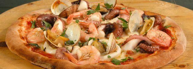 Pizza fantasia di mare