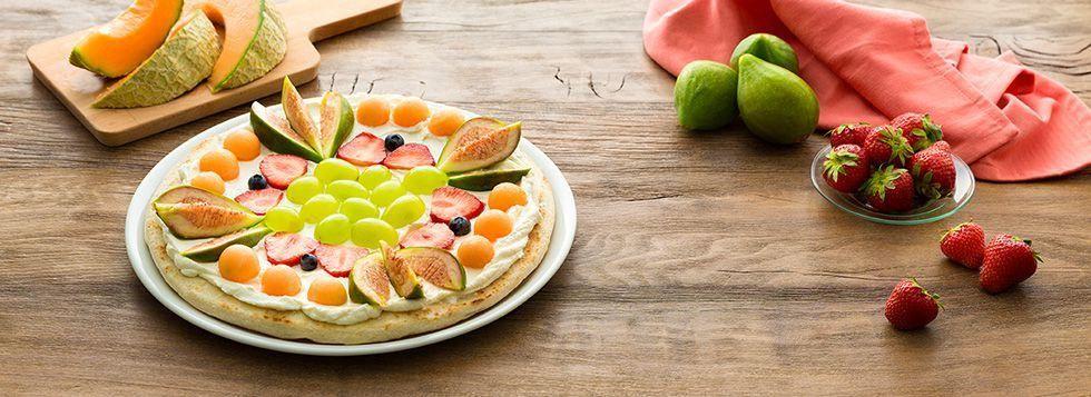 FRUIT PIZZA uva, fichi e melone