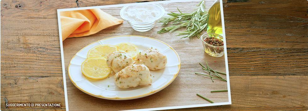Involtini di pollo al limone e formaggi