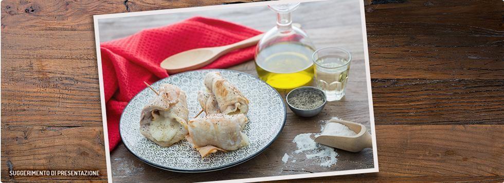 Involtini di pollo con prosciutto