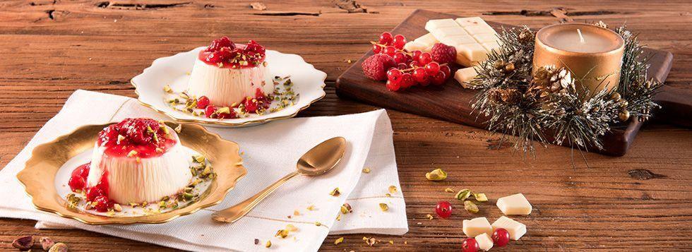 Budini al Mascarpone, cioccolato bianco e frutti di bosco