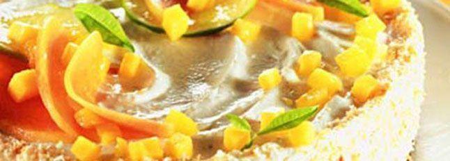 Cheesecake mascarpone e frutti tropicali