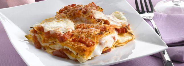 Lasagne di pane carasau, peperoni e Galbanino