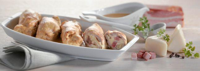 Involtini di pollo con formaggino e pancetta