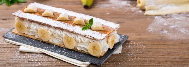 Millefoglie con banane e Crema alla Ricotta