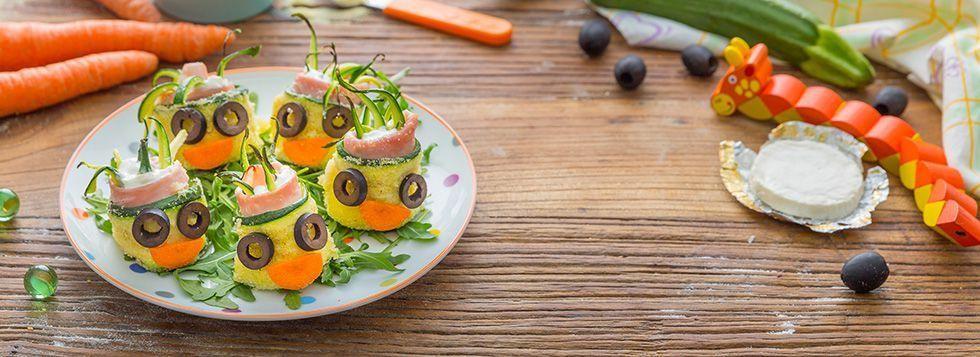 Involtini di zucchine e formaggino