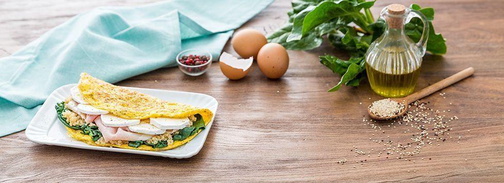 Omelette con quinoa
