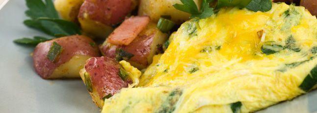 Omelette con spinaci