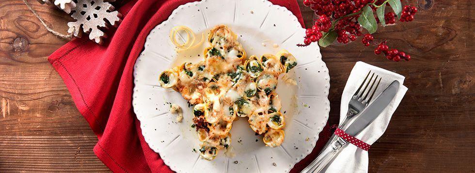 Stella di Cannelloni con mozzarella, spinaci e limone