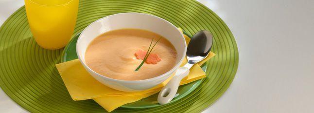 Pappa di carote, patate e formaggini