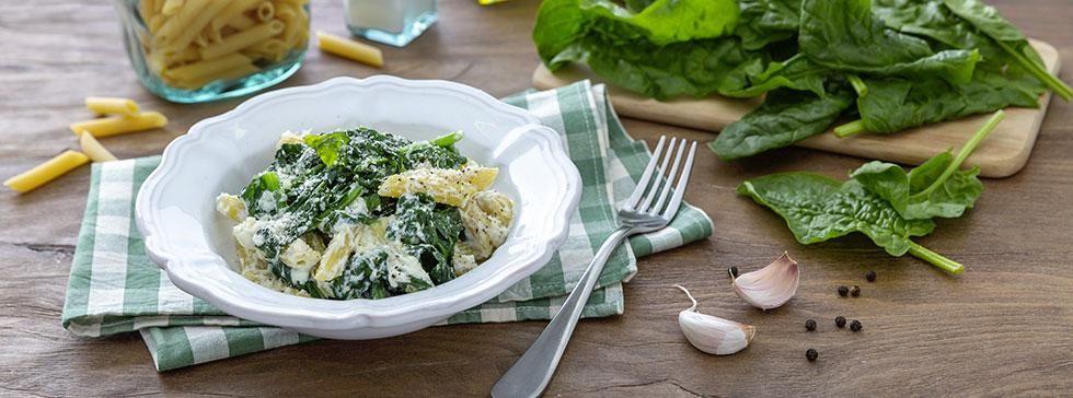 Pasta ricotta e spinaci