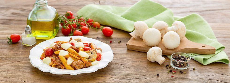 Pasta Galbanino, salsiccia e funghi