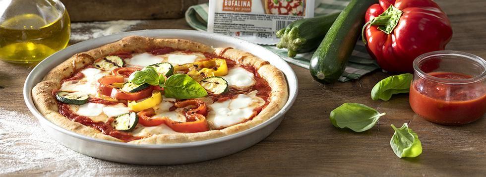 Pizza primavera con Bufalina e verdure