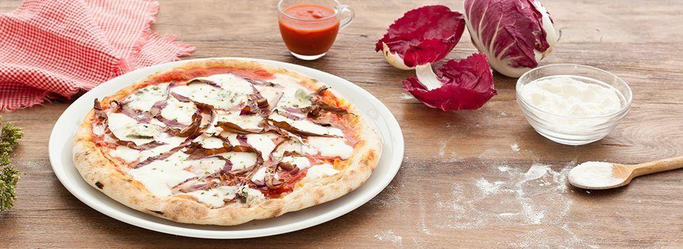 Pizza con radicchio