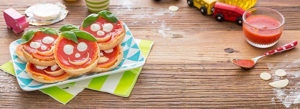 Pizzette rosse con formaggino